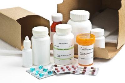 medicines in bottles