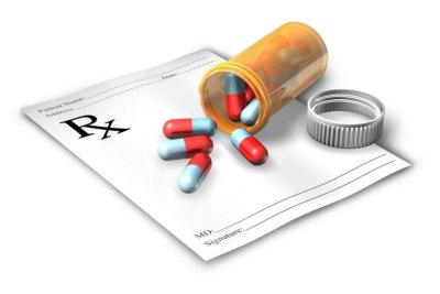 prescription with medicine